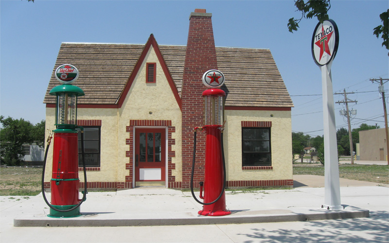 The Historical Deerfield Gas Station from 1923