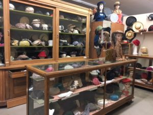 Hat display at Kearny County Museum