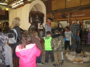 Kearny County Museum tour for grade school students.