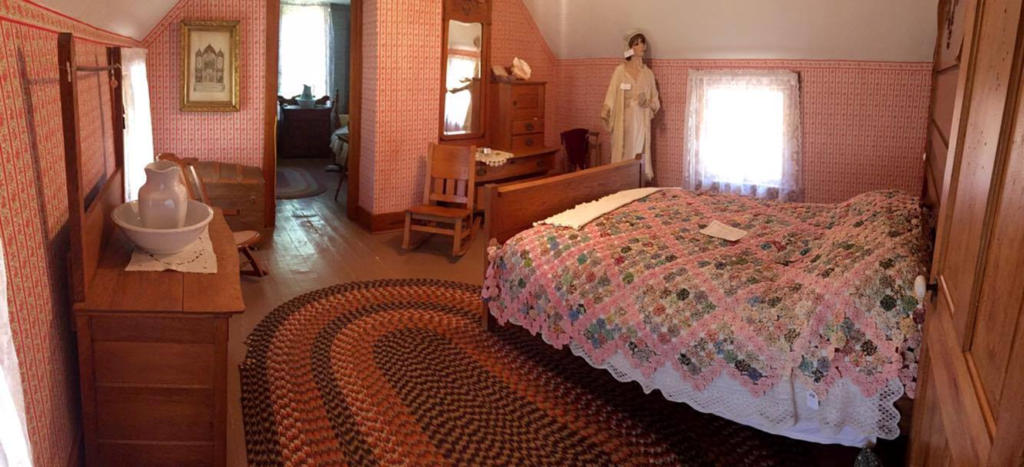 Main Bedroom in the White House at Kearny County Museum