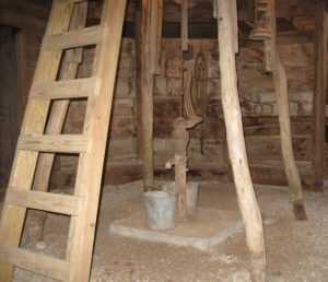 Ladderwell inside the Round Barn